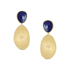 Marco Bicego Lunaria Yellow Gold with Lapis Earrings OB1428LP