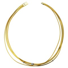 Marco Bicego Masai Three-Strand Diamond Necklace 18 Carat Gold