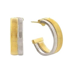 Marco Bicego Masai Yellow and White Gold Two-Row Hoop Earrings OG339 YW 01