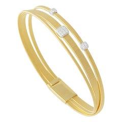 Marco Bicego Masai Yellow Gold and Diamonds Bracelet BG728 B YW M5