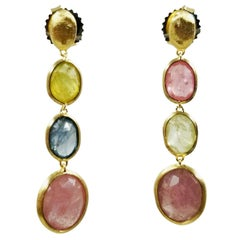MarCo Bicego Multi-Color Sapphire Drop Earrings