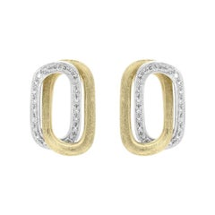 Marco Bicego Murano Yellow Gold and Diamond Earrings OB1368 B