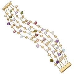 Marco Bicego Paradise Gold and Mixed Stone Five-Strand Bracelet BB922 MIX01 Y 02