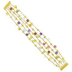 Marco Bicego Paradise Multicolored Gem Stone Bracelet