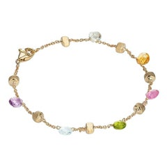 Marco Bicego Paradise Yellow Gold Mixed Gemstone Single Strand Bracelet BB765