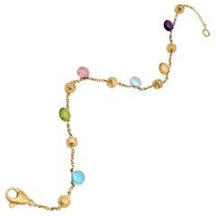 Marco Bicego 'Paradise' Yellow Gold Mixed-Gemstone Single Strand Bracelet