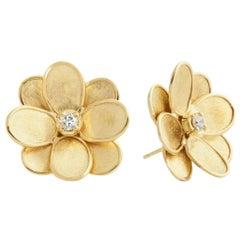 Marco Bicego Petali Flower Stud Earrings OB1678 B Y 02