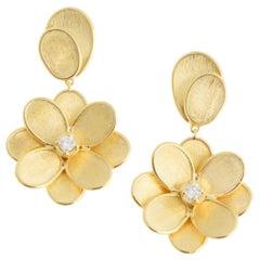 Marco Bicego Petali Single Flower Drop Earrings OB1679 B Y 02