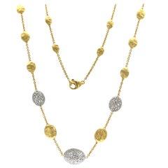 Marco Bicego Siviglia 18 Karat Yellow Gold Diamond Necklace