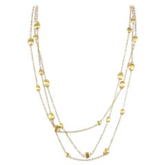 Marco Bicego Siviglia 18 Karat Yellow Gold Three-Row Necklace