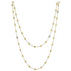 Marco Bicego Siviglia Yellow Gold and Diamond Necklace CB1843 B YW Q6