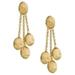 Marco Bicego Siviglia Yellow Gold Three-Strand Oval Earrings OB447