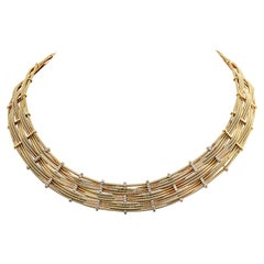 Marco Bicego Yellow Gold and Diamond Collar Necklace