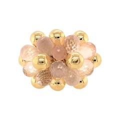 Marco Bicego Yellow Gold and Rose Quartz Ring