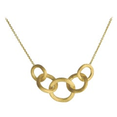 Marco Bicego Yellow Gold Link Graduated Necklace CB1375