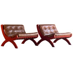 Marco Comolli CP1 Lounge Chairs by ICF, Italy, circa 1963