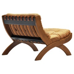 Marco Comolli for ICF Lounge Chair Model 'CP1' in Walnut