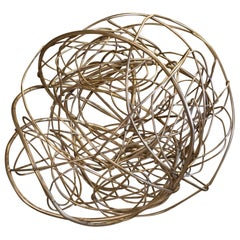 """Marco Croce """"Untitled"""" Brass Abstract Sculpture, Italy, 2020"""