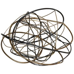 """Marco Croce """"Untitled"""" Brass and Steel Abstract Sculpture, Italy, 2020"""