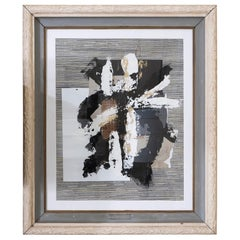 "Marco Croce ""Untitled"" Collage Wall Art, Wood Vintage Frame, Italy, 2018"