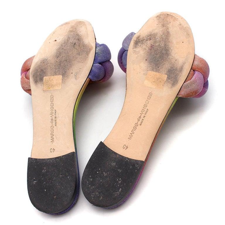 Women's Marco De Vicenzo Ciabattina Rainbow Braided Slides - New Season Size 40