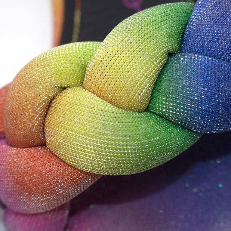 Marco De Vicenzo Ciabattina Rainbow Braided Slides - New Season Size 40 3