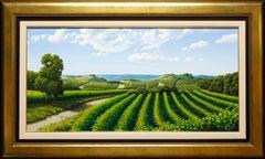 """Italian Viticulture"" by Italian Artist Marco Di Nieri 20"" x 39"" Oil on Canvas"