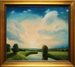 """""""Open Skies"""" by Italian Artist Marco Di Nieri 28"""" x 31"""" Oil on Board"""