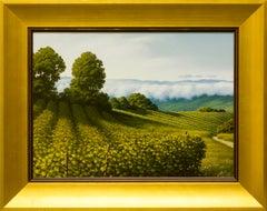 """""""Vigneti in Langhe"""" by Italian Artist Marco Di Nieri 12"""" x 16"""" Oil on Board"""