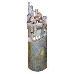 Marco Laganà Papier Mâché Light Sculpture Città Meteora Model 1 Unique Piece