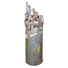 Marco Laganà Papier Mâché Light Sculpture Città Meteora Model 3 Unique Piece