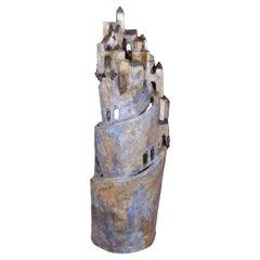 Marco Laganà Papier Mâché Light Sculpture Città Meteora Model 5 Unique Piece