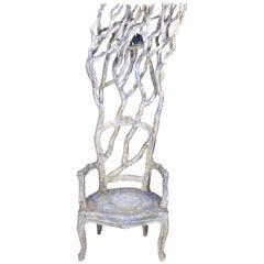 Marco Laganà Papier Mâché Sculpture Chair Tra le tue Braccia Unique Piece
