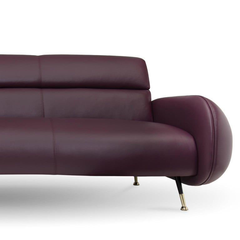 Part of the Marco collection, this sofa brings you the elegance of midcentury with the sophistication of modern techniques and stunning materials. Made for the most luxurious of living rooms, Marco never disappoints with stunning polished brass and