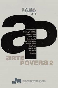 Vintage Exhibition Poster Arte Povera 2 - Galerie Di Meo Paris 2010