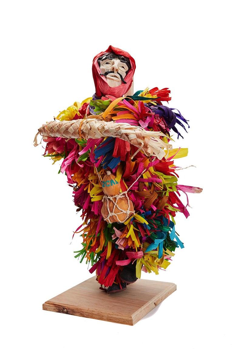Mago de Putla - Wizard of Putla - Mexican Folk Art  Cactus Fine Art - Sculpture by Marco y Moises Ruiz Sosa
