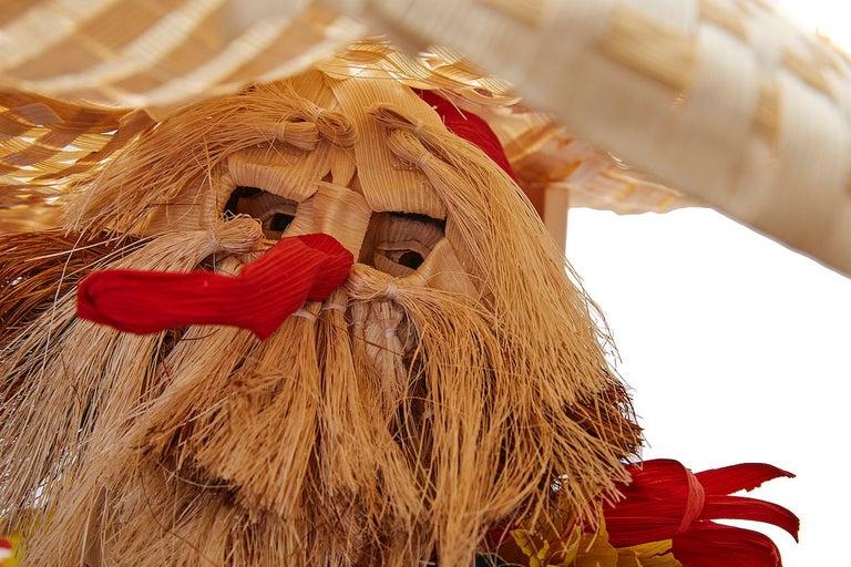 Mago de Putla - Wizard of Putla - Mexican Folk Art  Cactus Fine Art - Beige Figurative Sculpture by Marco y Moises Ruiz Sosa