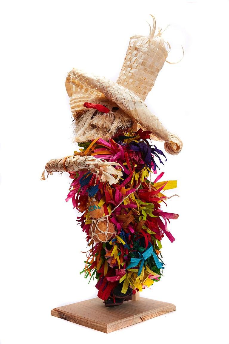 Marco y Moises Ruiz Sosa Figurative Sculpture - Mago de Putla - Wizard of Putla - Mexican Folk Art  Cactus Fine Art