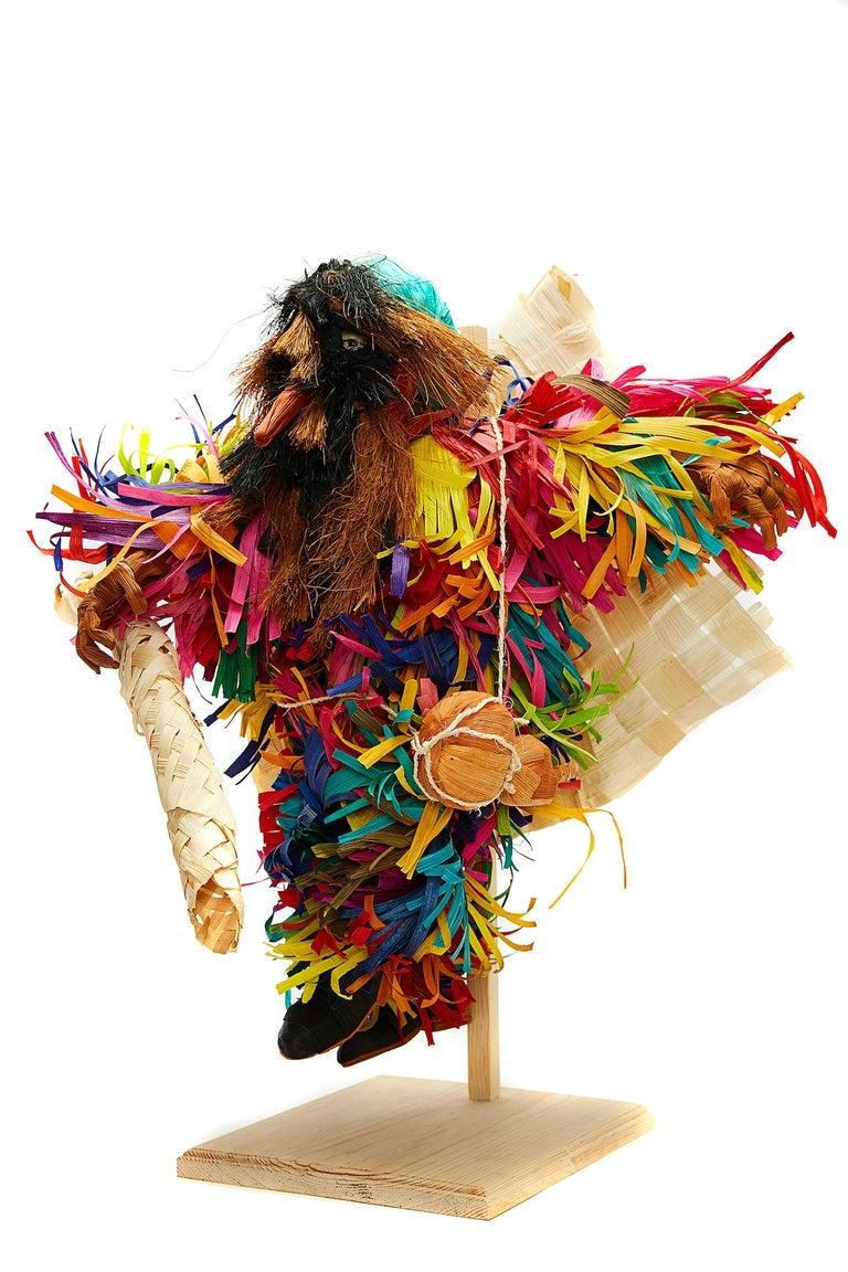 Tiliche de Putla - Mexican Folk Art  Cactus Fine Art - Sculpture by Marco y Moises Ruiz Sosa