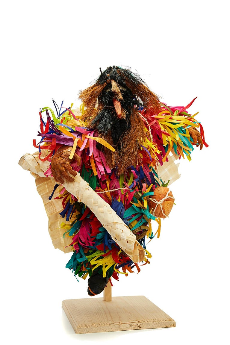 Marco y Moises Ruiz Sosa Figurative Sculpture - Tiliche de Putla - Mexican Folk Art  Cactus Fine Art