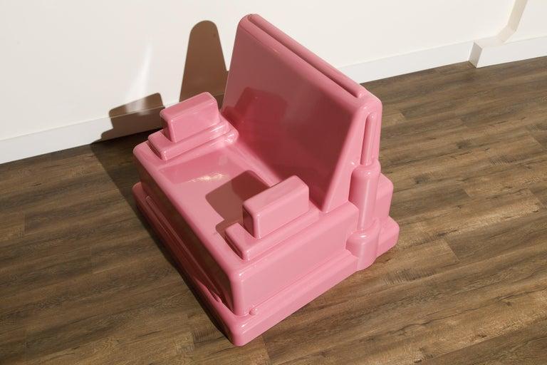 Marco Zanini 'Roma' Fiberglass Throne Chair for Memphis Milano, Italy, c. 1986 For Sale 6