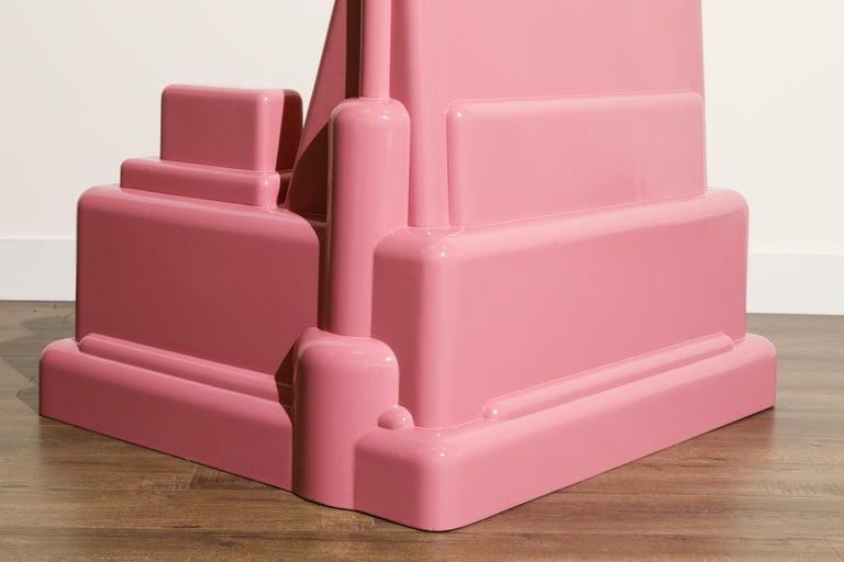 Marco Zanini 'Roma' Fiberglass Throne Chair for Memphis Milano, Italy, c. 1986 For Sale 7