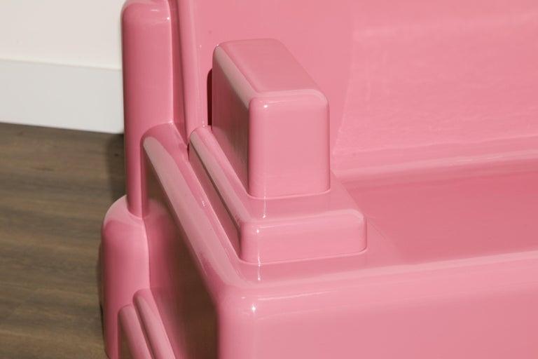 Marco Zanini 'Roma' Fiberglass Throne Chair for Memphis Milano, Italy, c. 1986 For Sale 8
