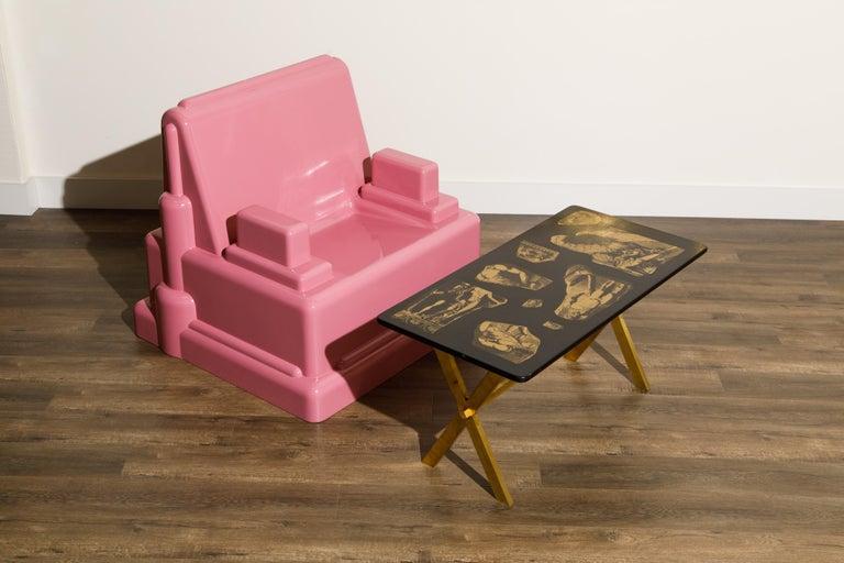 Marco Zanini 'Roma' Fiberglass Throne Chair for Memphis Milano, Italy, c. 1986 For Sale 11