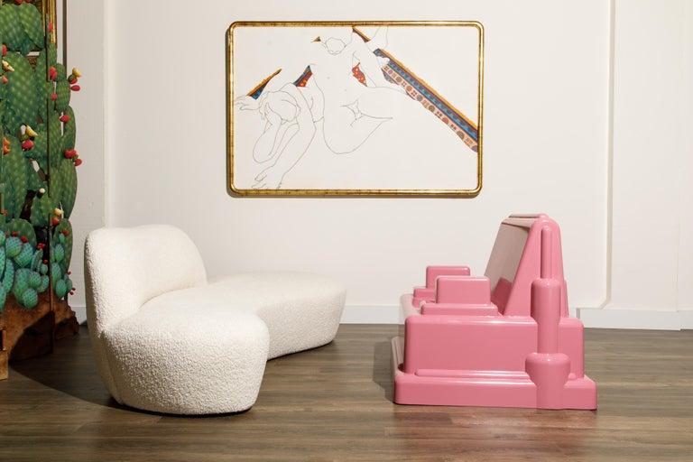 Marco Zanini 'Roma' Fiberglass Throne Chair for Memphis Milano, Italy, c. 1986 For Sale 12
