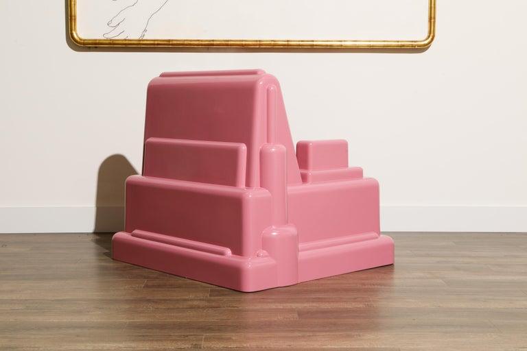 Late 20th Century Marco Zanini 'Roma' Fiberglass Throne Chair for Memphis Milano, Italy, c. 1986 For Sale