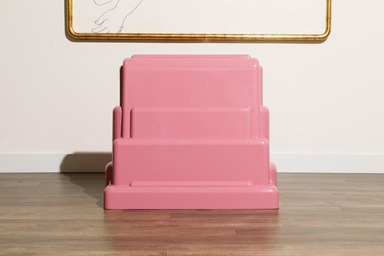 Marco Zanini 'Roma' Fiberglass Throne Chair for Memphis Milano, Italy, c. 1986 For Sale 1