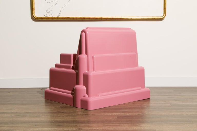 Marco Zanini 'Roma' Fiberglass Throne Chair for Memphis Milano, Italy, c. 1986 For Sale 2