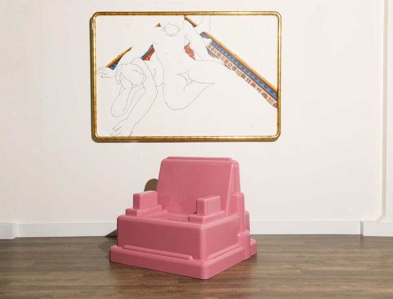 Marco Zanini 'Roma' Fiberglass Throne Chair for Memphis Milano, Italy, c. 1986 For Sale 3