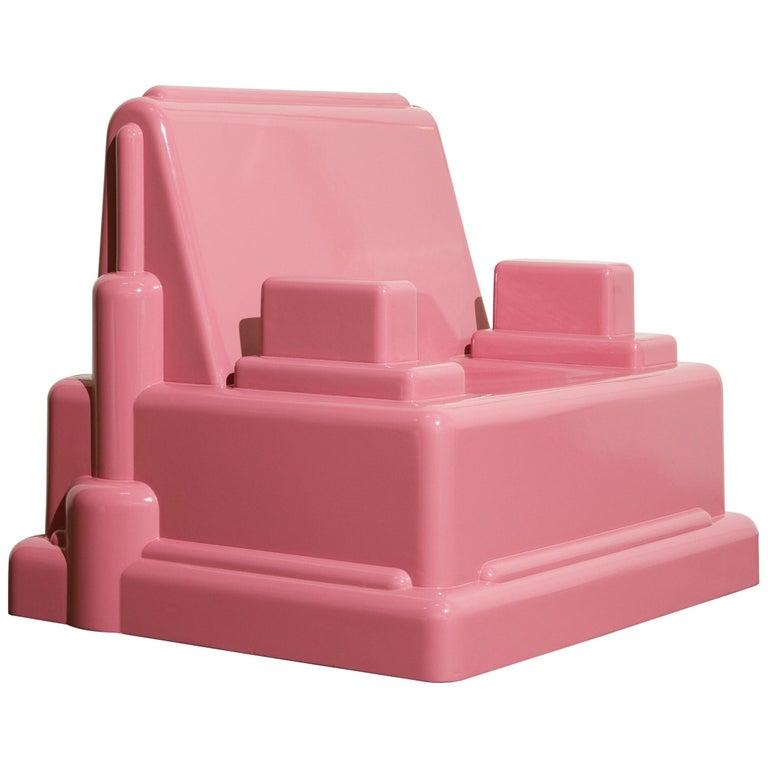 Marco Zanini 'Roma' Fiberglass Throne Chair for Memphis Milano, Italy, c. 1986 For Sale
